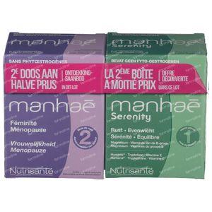 Nutrisante Manhae 2 Maanden + Manhae Serenity Aan -50% 2x60 tabletten