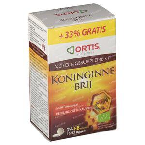 Ortis Gelée Royale Bio + 8 Comprimés GRATUIT 24 + 8 comprimés à croquer