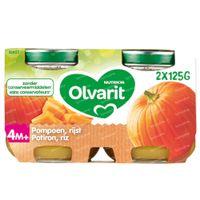 Olvarit Panade Légumes Potiron-Riz 4 Mois 2x125 g