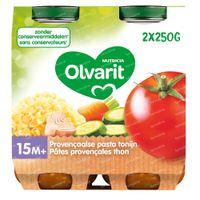 Olvarit Repas Tomate-Thon-Pâtes 15 Mois 2x250 g