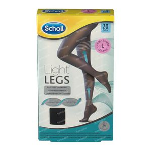 Scholl Light Legs 20DEN Large Schwarz 1 st