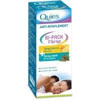 Quies Anti-Ronflement Bi-Pack Spray Nez + Bouche 15+70 ml