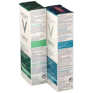 Vichy Dercos Shampooing Antipelliculaire Sensitive + Shampooing Calmante Cheveux Secs 1 + 1 GRATUIT 2 x 200 ml