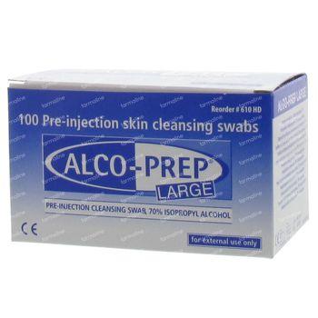 Alco-Prep Alcoholdoekjes Large 100 st