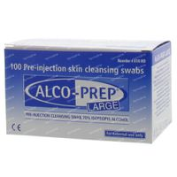 Alco-Prep Chiffons Alcool Large 100 st