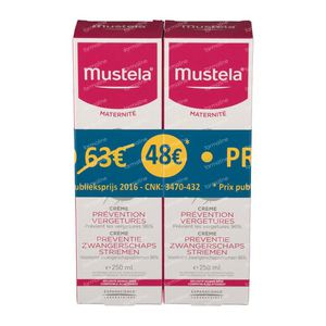 Mustela Maternité Stretch Marks Prevention Cream With Fragrance Duo Reduced Price 2 x 250 ml