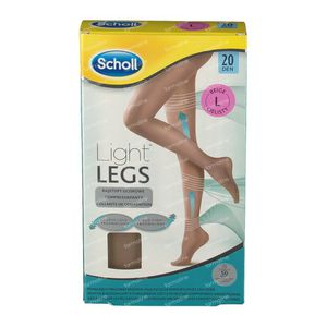 Scholl Light Legs 20DEN Large Beige 1 st