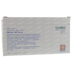 MaiMed Sterile Compress 7.5x7.5cm 100 pieces