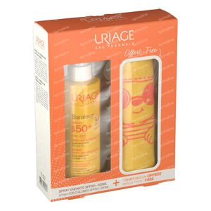 Uriage Bariésun Kinderen Spray SPF50+ + GRATIS Anti-UV T-shirt 3-5 Jaar 200 ml