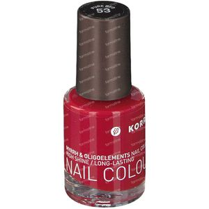 Korres Nagellak 53 Pink Pure Red 10 ml