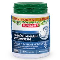Superdiet Magnésium Marin + Vitamine B6 90  capsules