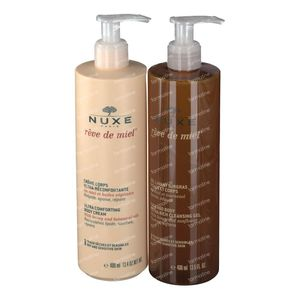 Nuxe Rêve De Miel Bodycream + Cleansing Gel 2 x 400 ml