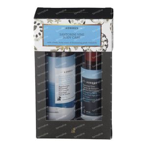 Korres Set Cadeau Santorini Vine Body Care 250+100
