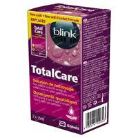 Blink Total Care Cleaner Lenzenvloeistof 2x15 ml