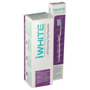 I-White Instant Whitening Tandpasta 75 ml + Tandenborstel GRATIS 1 stuk