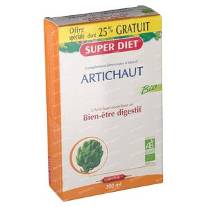 Super Diet Artisjok Bio +25% GRATIS 15+5x15 ml Ampoules