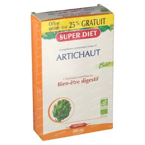 Super Diet Artichoke Bio +25% For FREE 15+5x15 ml ampoules
