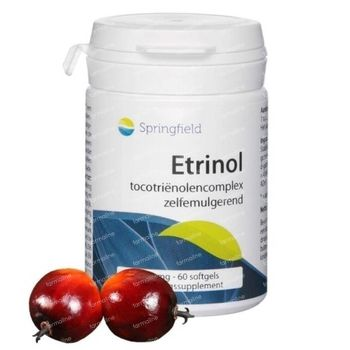 Springfield Etrinol Complexe de Tocotriénols Vitamine E 50mg 60 gélules souples