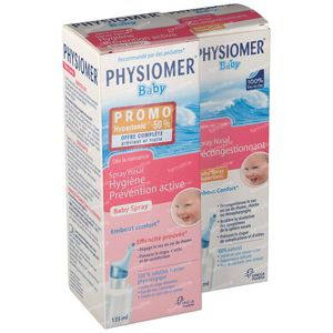 Physiomer Iso Baby Spray + Hypertonic Spray Set 135+60 ml