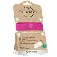 Para'Kito Anti-Moustique Bracelet Fuchsia Rechargeable 1 pièce