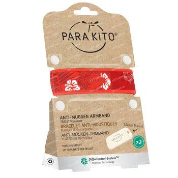 Para'Kito Anti-Moustique Bracelet Graphic Hawaï Rechargeable 1 pièce