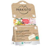 Para'Kito Anti-Moustique Bracelet Graphic Flowery Rechargeable 1 pièce