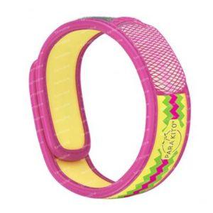 Para'Kito Anti-Moustique Bracelet Graphic Pink Inca Rechargeable 1 pièce