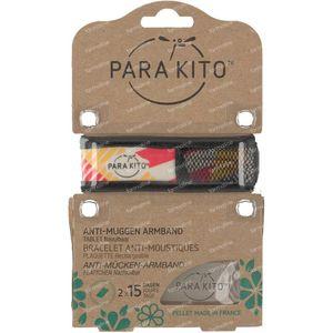 Para'Kito Anti-Moustique Bracelet GRAPHIC Geometrics Rechargeable 1 pièce