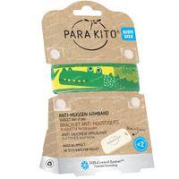 Para'Kito Anti-Moustique Bracelet Kids Crocodile Rechargeable 1 pièce
