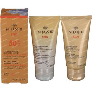 Nuxe Sun Visage SPF50 Pouch 3x50 ml