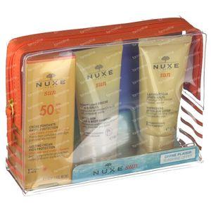 Nuxe Sun Visage SPF50 Toilettas 3x50 ml