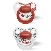 Bibi Sucette Happiness Duo Mama & Papa Dental 6-16 Moins 2 pièces