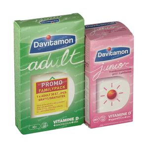 Davitamon Junior Raspberry + Adult For FREE 60+30 tablets