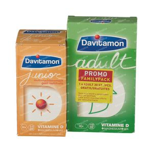 Davitamon Junior Multifruit + Adult for FREE 60+30 tablets