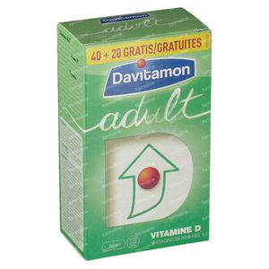 Davitamon Adult + 20 Tablets For FREE 40+20 St Tablets