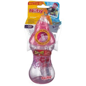 Nuby Anti-Leck Becher Flip-It Rosa 12Monate + ID10241 300 ml