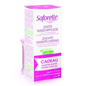 Saforelle Flüssigseife 250 ml + Intimate Wipes 10 Stück 1 shaker