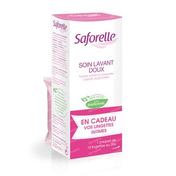 Saforelle Savon Liquide Hygiène Intime 250 ml + Lingettes Intimes 10 Pièces 1 set
