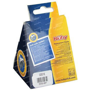 Nuby Nippelsauger Softflex Medium Flow 6Monate+ ID0016 2 st