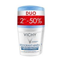 Vichy Deodorant Anti-Transpiratie Mineral 48h Duo 2x50 ml roller