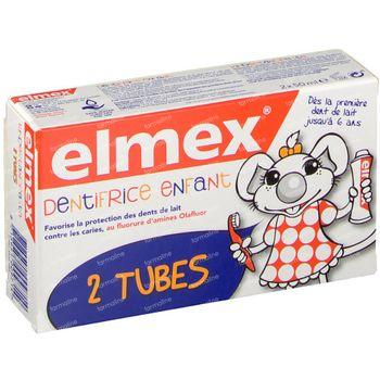 Elmex Tandpasta Kinderen 0 - 5 Jaar Duo 2x50 ml