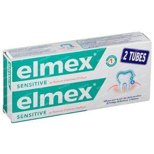 Elmex Toothpaste Sensitive Bitube Reduced Price 2x75 ml