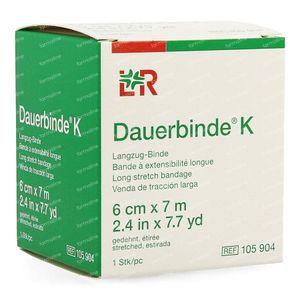 Lohmann & Rauscher Dauerbinde K 6cmx7m 10590 1 item