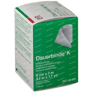 Lohmann & Rauscher Dauerbinde K 8cmx7m 105905 1 pièce