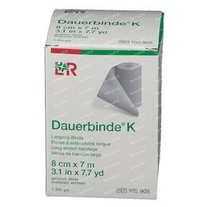Lohmann & Rauscher Dauerbinde K 8cmx7m 105905 1 stuk