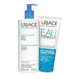 Uriage Cleansing Cream + Silky Body Lotion For FREE 500+200 ml