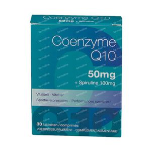 Coenzyme Q10 50mg + Spirulina 100mg 30 tabletten