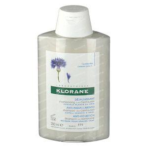 Klorane Shampoo mit Kornblume für Graues und Weisses Haar Neue Rezeptur 200 ml