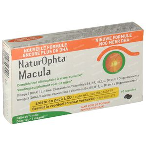 Naturophta Macula Nieuwe Formule 60 capsules