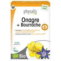 Physalis Onagre + Bourrache Bio 60  capsules